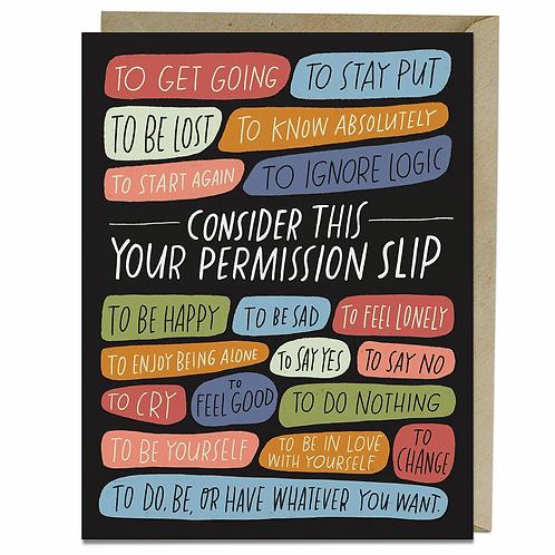 Greeting Card: Permission Slip