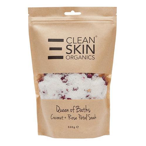 Cleanskin Organics Coconut and Rose Petal body salts and scrub 500g