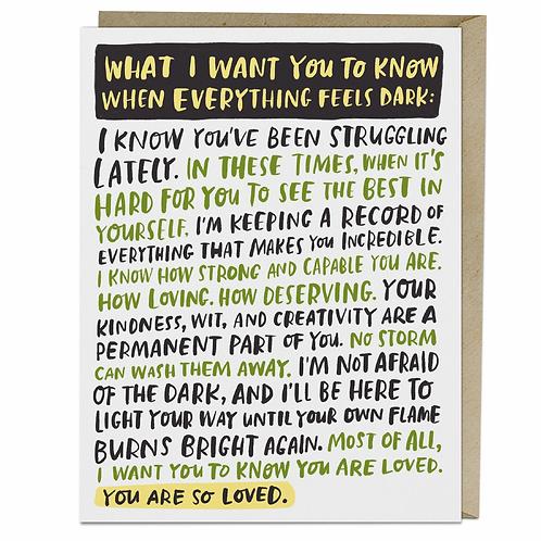 Greeting Card: Everything Dark