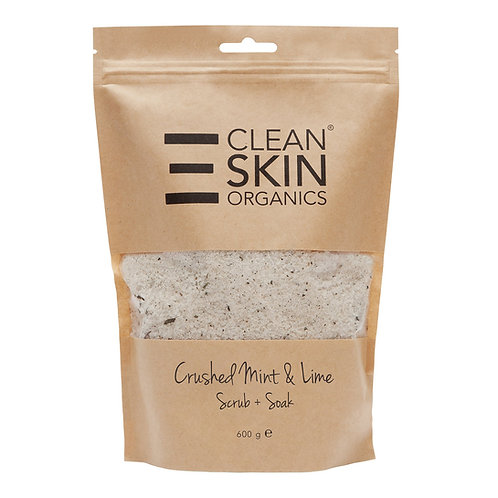 Cleanskin Organics Mint and Lime body salts and scrub 600g