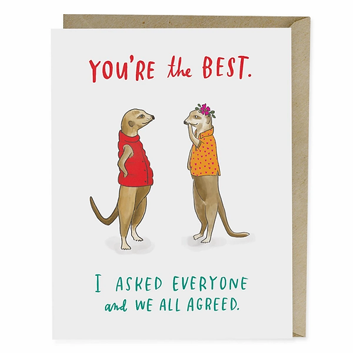 Greeting Card: You're the Best