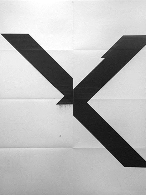 Untitled - X Poster (2015) by Wade Guyton