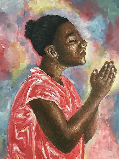 Praying Girl by Rukundo Epaphrodite