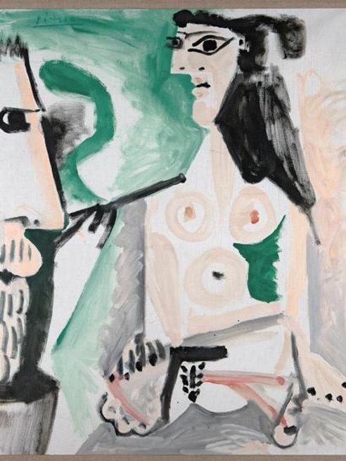 Le Peintre et Son (1964) by Pablo Picasso