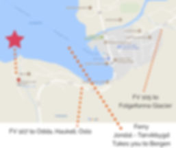 Map of the municipality of Jondal