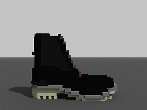 Zip-Up Boot - Black