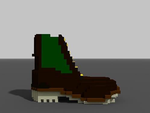Zip-Up Boot - Brown