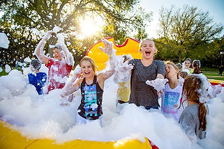 Hampton Roads barrels of fun amusements, foam party, bubbles, machine, snow, water, event rental, kids