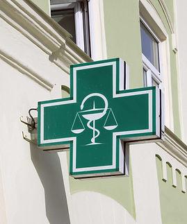 Green pharmacy sign