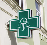 Green pharmacy sign