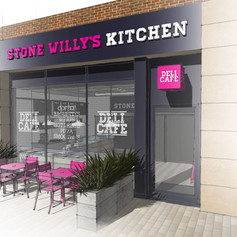The original design concept introduced an external dining area to the outlet