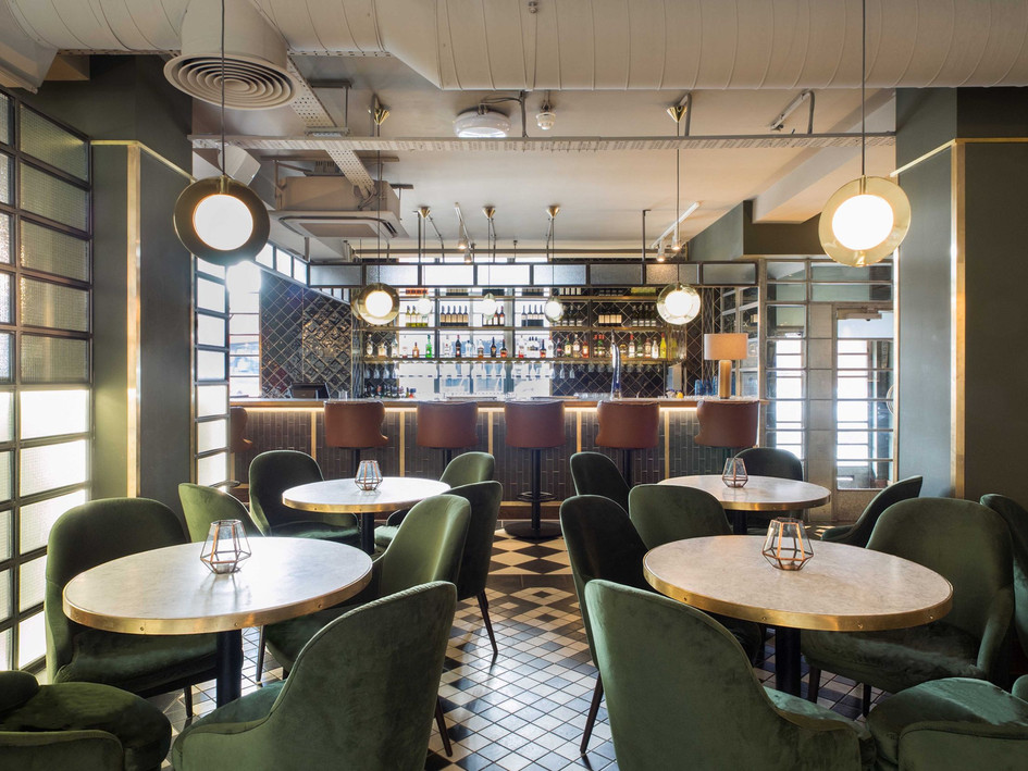 Sophisticated materials & colour palette combine to create a welcoming environment at this seriously stylish bar &restaurant