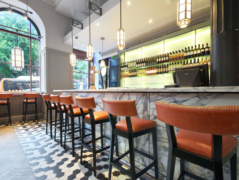 Creed's design expertise, quality materials and bespoke fittings combine at this warm and glamourous Manchester bar