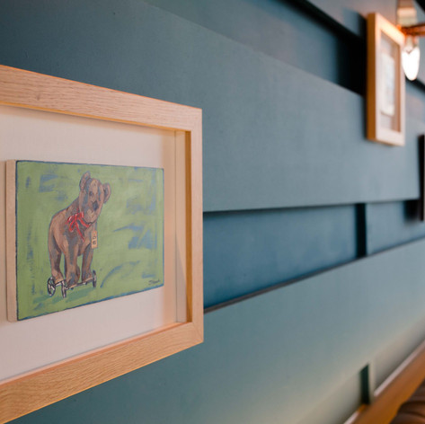 Original artworks including oil paintings, photography and art prints were created by the Creed Design team