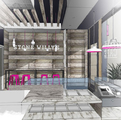 Visuals & sketches enabled us to share our vision for this café design