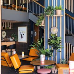 Welcoming bar lounge area