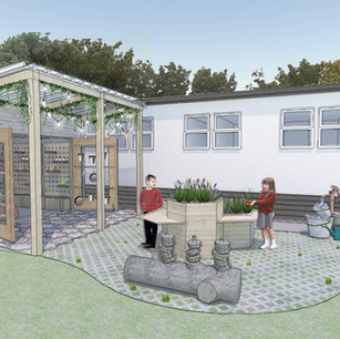Our proposal for 'The Shed' at a Primary School in Somerset includes accessible sensory planting that the pupils can take ownership of and manage