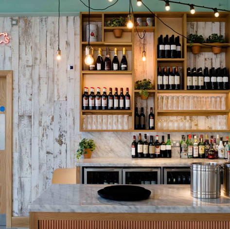 A small but perfectly formed Bar utilises the space