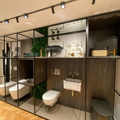 Bespoke retail display units were an important element of the design concept