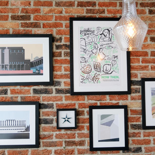 This artwork showcases just some of the local talent in Sheffield's vibrant, creative community