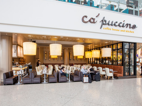 Our design for this coffee house at Heathrow's busy Terminal 2, affords travellers some luxury refreshment