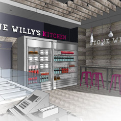 Sketchy visuals were utilised to convey this grab-and-go concept design