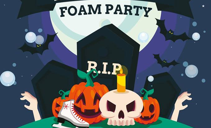 Halloween Foam Party At Planet Ice Gosport - 26/10/2018