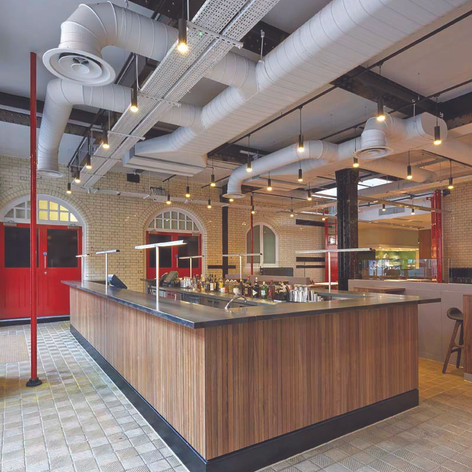 A central bar area is well situated for operational staff and customers