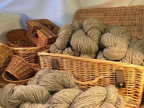 Light grey aran weight mill spun yarn