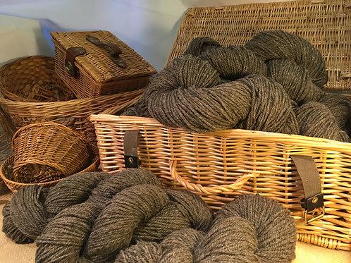Mid grey/brown aran weight mill spun yarn 100g