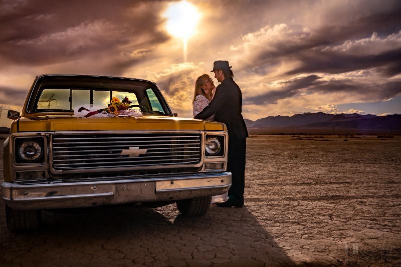 Vegas Bride, Desert Wedding, Weddings, Desert Road, Desert, Nevada, Nevada Wedding, Elopement, Dry Lake Bed, Dry Lake Bed Wedding, Wedding Destination, Destination Wedding, Outdoor Wedding, Off-Grid Wedding
