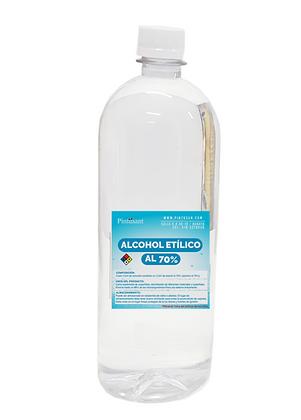 Alcohol etilico al 70%. Botella 750ml