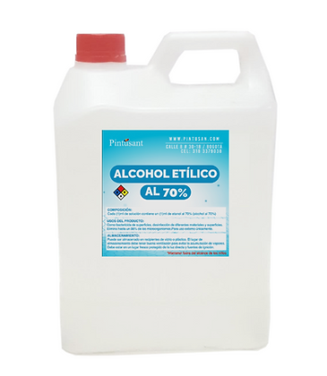 Alcohol etilico al 70% Galón 3.750 ml