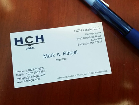 Mark Ringel Joins HCH Legal as its Newest Member