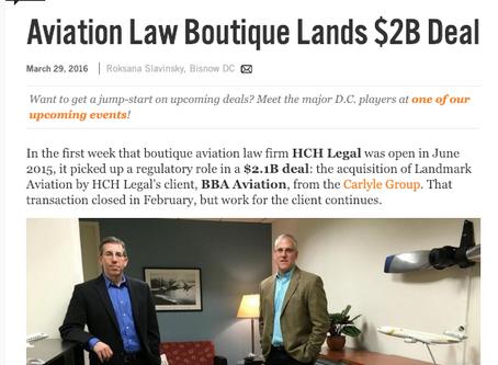 HCH Legal Featured in Bisnow/Legal