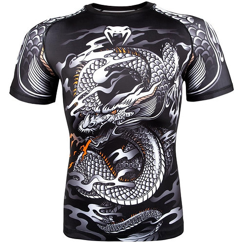 Venum - Dragon - Rash - Black/White