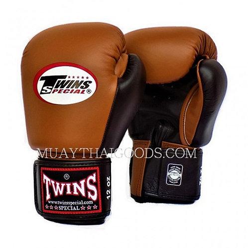 Twins 2- BGVL3-2T Tone Brown-Black Boxing Gloves