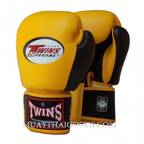 Twins 2- BGVL3-2T Tone Yellow - Black Boxing Gloves