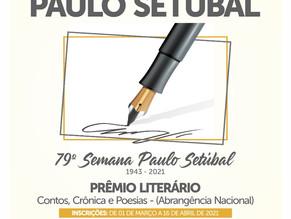"""PRAZO DE INSCRIÇÕES PARA O """"19º PRÊMIO LITERÁRIO PAULO SETÚBAL"""