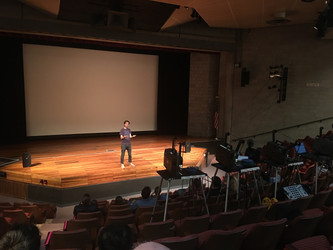 Artist-filmmaker Rodger Beebe visited Alfred University