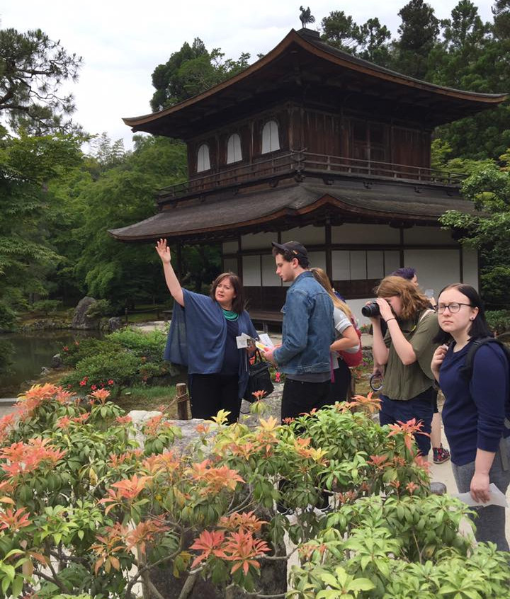 Dr. Jones with students at the Silver Pavilion, Kyoto