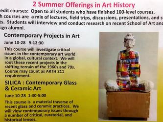 SUMMER ART HISTORY COURSES
