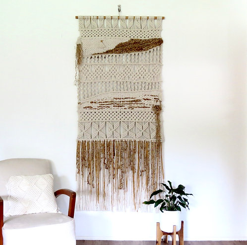 Macrame & Jute Weave Wall Hanging