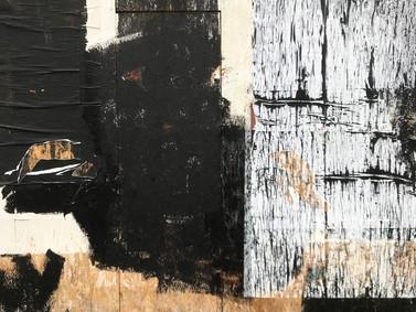 Urban texture.  Kentish Town hoarding