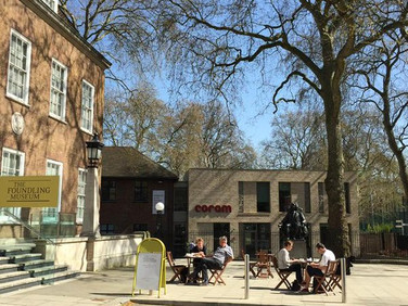 The new public space in use at Coram