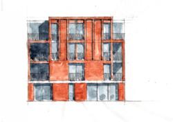 Sydenham Villas Sketch Elevation