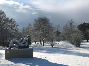 Wonderful to visit the Henry Moore at Kew Gardens in the snow