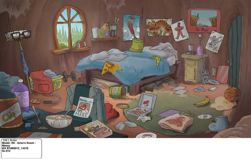 Grizz's Messy Room