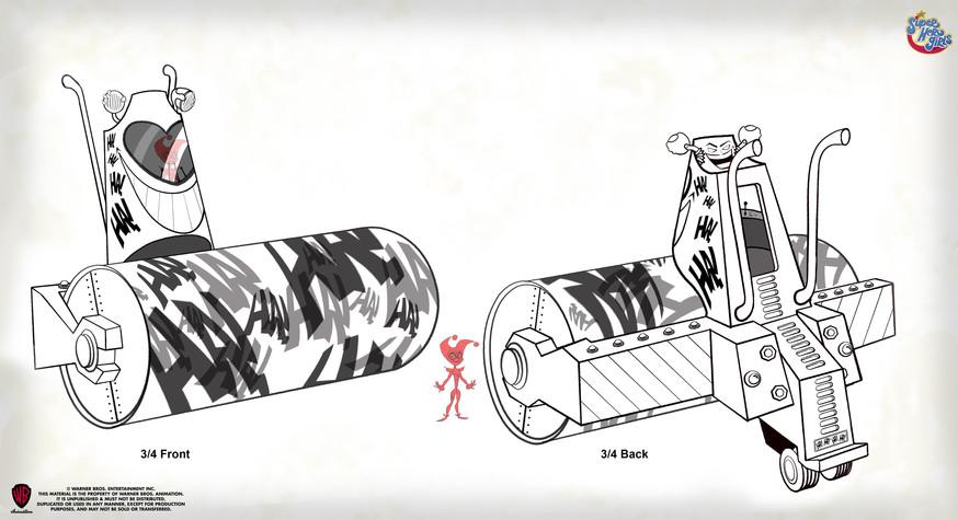 Steam Roller Prop Design