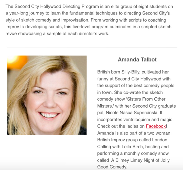 Second City Directors Program